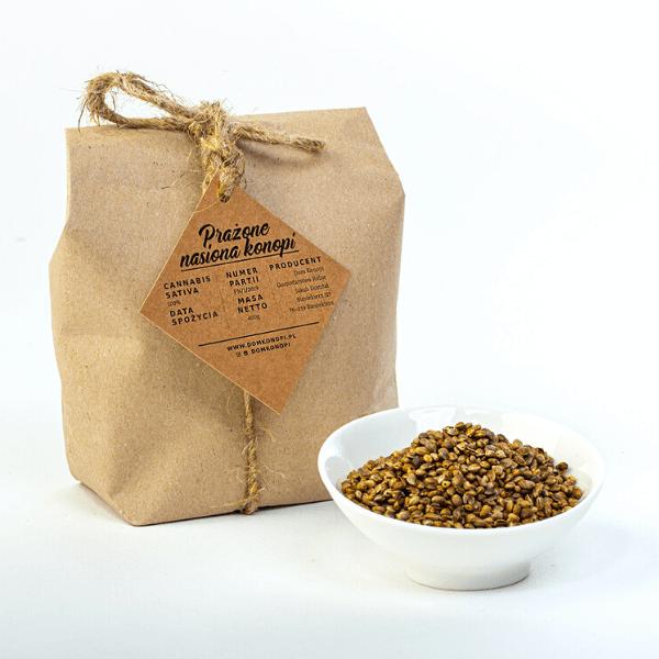 Prażone nasiona konopi 400 g 2