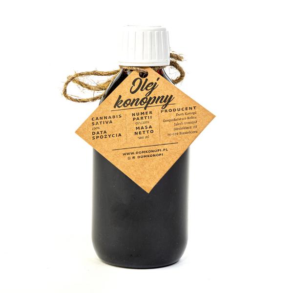 Olej konopny tłoczony na zimno 1